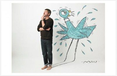 Mo Willems (Photo by Marty Umans, taken from New-York Historical Society Museum & Library website)