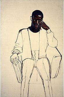 Image: Alice Neel. James Hunter Black Draftee, 1965. Oil on canvas. COMMA Foundation, Belgium, © The Estate of Alice Neel