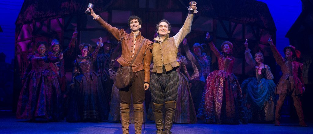 John Cariani and Brian d'Arcy James as Nigel and Nick Bottom (Photo by Joan Marcus)