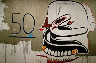 Andy Warhol and Jean-Michel Basquiat, Untitled (50-Dentures), 19