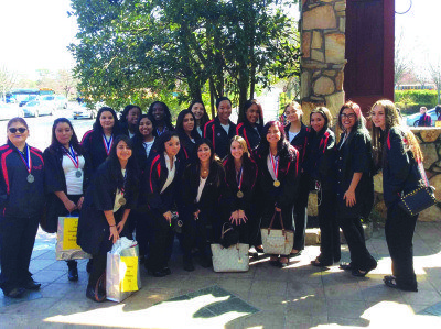 SkillsUSA Members in Sewanhaka's cosmetology program took part in a SkillsUSA Regional Competition.