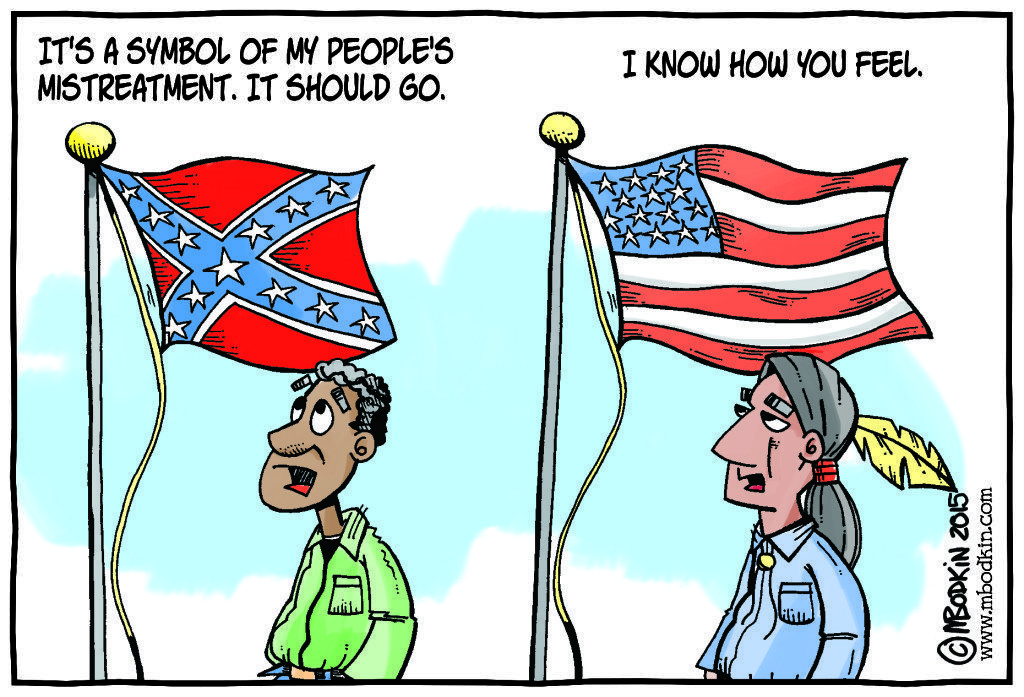 American Confederate flag cartoon
