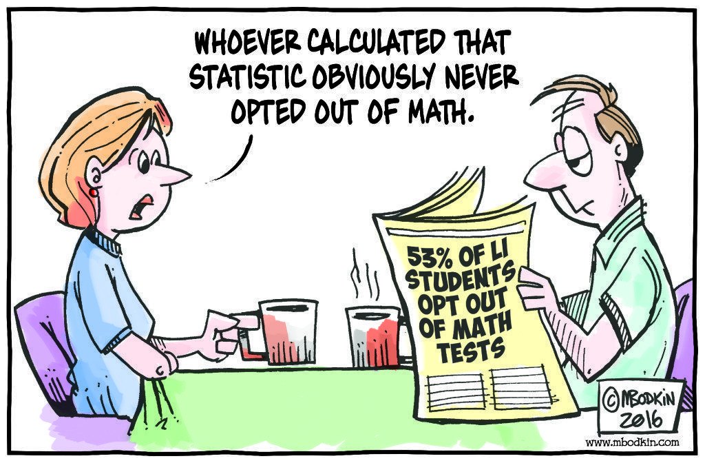 Opt Out Math cartoon
