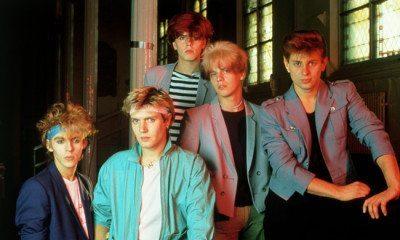 Duran Duran circa 1983-1984. From left: Nick Rhodes, Simon LeBon, John Taylor, Andy Taylor, Roger Taylor