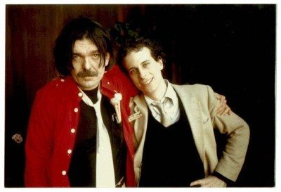 Captain Beefheart with a young Gary Lucas (right)