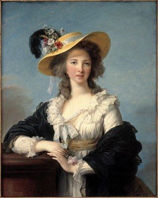 The Duchesse de Polignac in a Straw Hat by Elisabeth Louise Vigée Le Brun, 1782, oil on canvas (Taken from the Metropolitan Museum of Art's website)