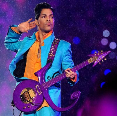 Prince performing during the 2007 Super Bowl XLI halftime show