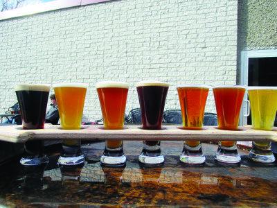 Beer tasting at 2Way Brewing Company