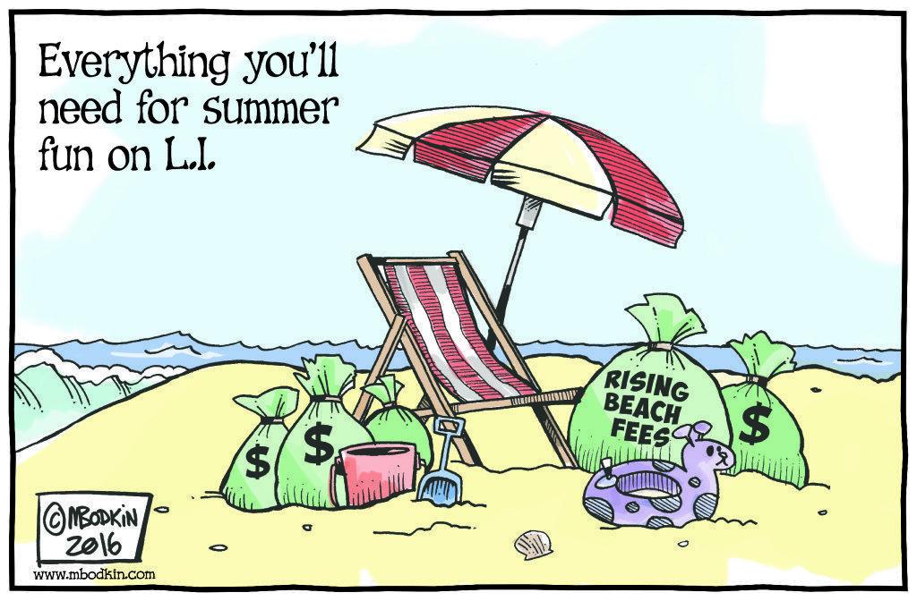 Long Island beach fees cartoon