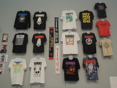 Some of the merchandise on display at the Queens Museum Ramones exhibit (Photo by Dave Gil de Rubio)