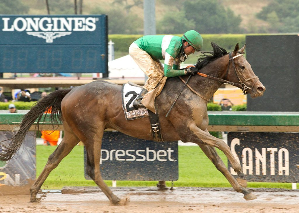 Exaggerator wins the Preakness on May 21, 2016.
