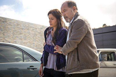 Mercedes Mason (left) survives on Fear The Walking Dead.