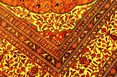 Tape down upended carpet edges.