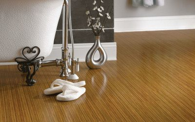 Armstrong's Bamboo flooring is realistically captured in luxury vinyl plank.