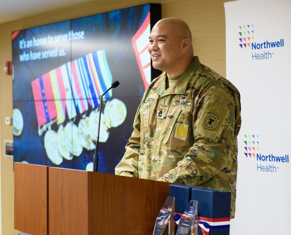 Sgt. First Class Clint Castro is stationed at Fort Totten.