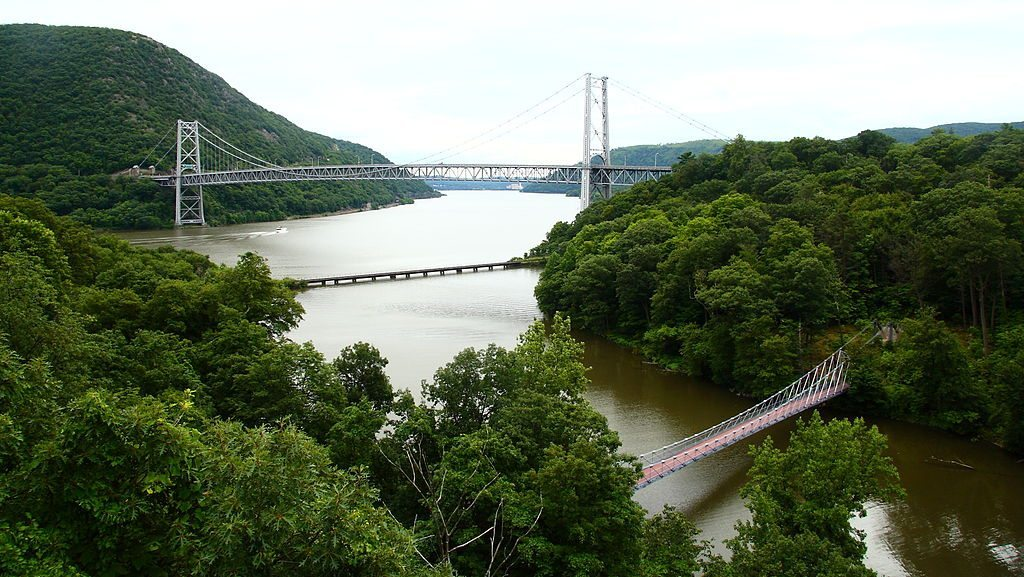 Bear Mountain Bridge over the Hudson River