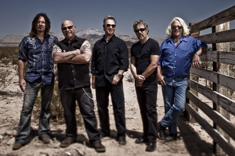 Creedence Clearwater Revisited members, from left: Kurt Griffey, John Tristao, Stu Cook, Doug Clifford and Steve Gunner. (Photo by Jeff Dow)