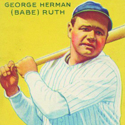 Goudey Gum Company; George Herman (Babe) Ruth, New York Yankees, from the Goudey Gum Company's Big League Chewing Gum series (R319), 1933; commercial lithograph; sheet: 2 7/8 x 2 3/8 in. (7.3 x 6 cm); The Metropolitan Museum of Art, New York, The Jefferson R. Burdick Collection, gift of Jefferson R. Burdick (Burdick 325, R319.53)