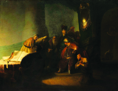 Rembrandt van Rijn (1606-1669), Judas Returning the Thirty Pieces of Silver, 1629; oil on panel; private collection © Private Collection, photography courtesy of The National Gallery, London, 2016