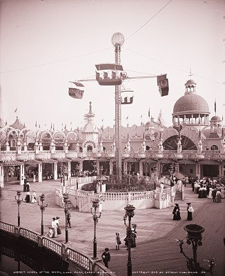 The Whirl of the Whirl at Luna Park in 1905. (Photo by Detroit Publishing Co.)