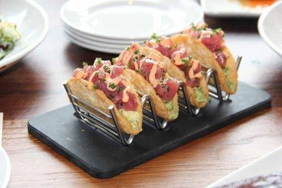 Ahi tuna tacos are light and refreshing.
