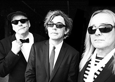 Cheap Trick (from left): Rick Nielsen, Tom Petersson and Robin Zander