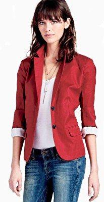 Lucky Brand Feminine Blazer in Rio Red