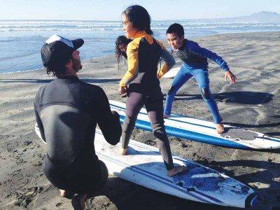 Take a surf lesson with CoreysWave Professional Surf Instruction. (Photo courtesy CoreysWave)