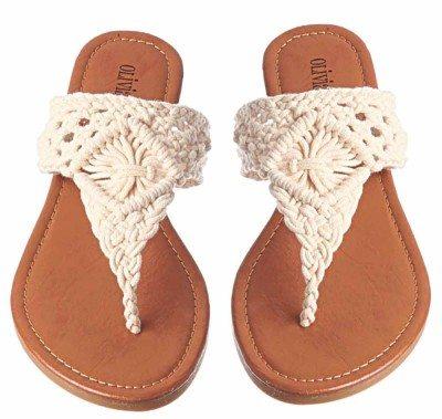 Olivia Miller Cream Sandals