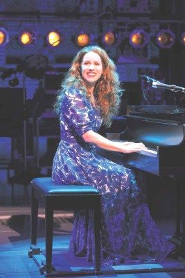 Chilina Kennedy portrays Carole King in Beautiful. (Photo by Joan Marcus)