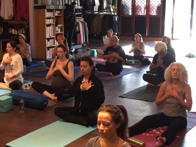 Heart meditation at lululemon