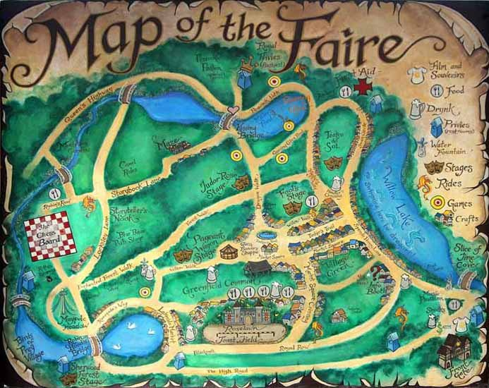 New York Renaissance Faire map