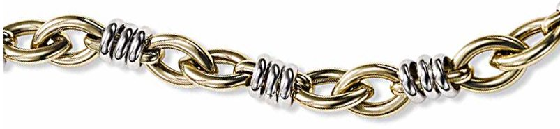 Two-Tone Open Link Bracelet is a flexible bracelet ideal for everyday.