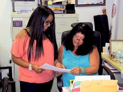 As program director at LBLCA, Nelly Romero coordinates services to assist students.