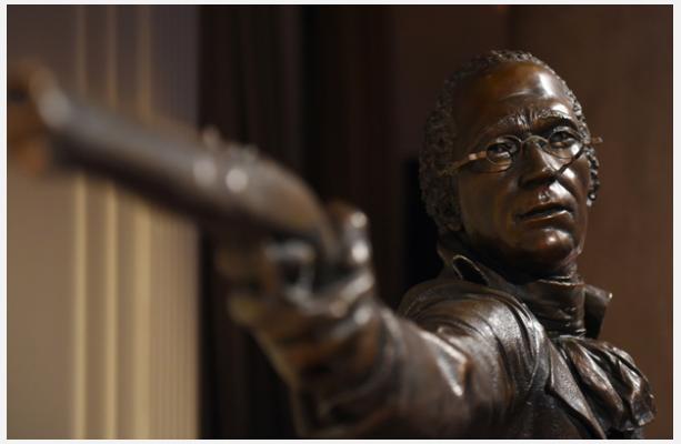 Kim Crowley, Alexander Hamilton, bronze, 2004, New-York Historical Society (Photo Don Pollard).