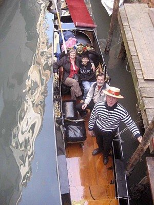 The Dobrins on a gondola ride