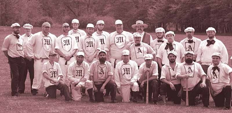 Throwing it back to the days of base ball in the 19th century. (Photos by Mutual Base Ball Club)