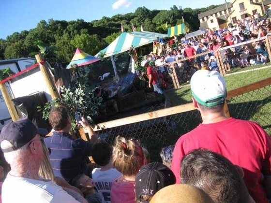 Alligator wrestling show Long Island Fair Gallery Photo by Kimberly Dijkstra