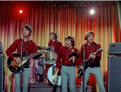 The Monkees performing in the mid-1960s