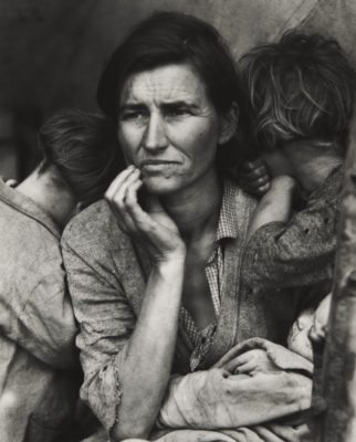 Dorothea Lange, Migrant Mother, Nipomo, California, 1936, gelatin silver print. Collection of the Kalamazoo Institute of Arts; Gift of the Photo Guild