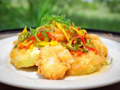 Fried green tomatoes at Skull Creek Boathouse