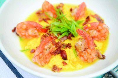 Shrimp grits at Poseidon Coastal Cuisine & Rooftop Bar