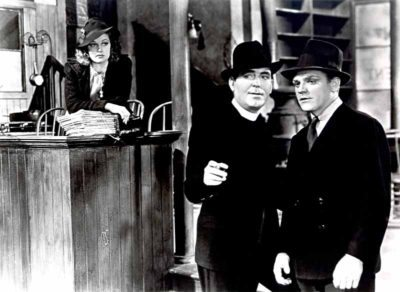 James Cagney (far right) with frequent co-star and close friend Pat O'Brien in Angels With Dirty Faces