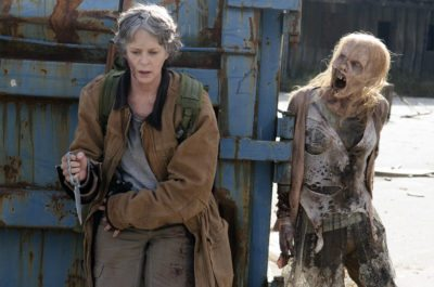 The formerly meek Carol Peletier (Melissa McBride) embracing her evolving role as uncompromising survivor. (Photo Credit: Gene Page/AMC)
