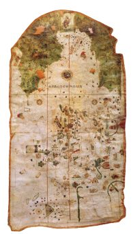 This 1500 Juan de la Cosa map is the only cartographic work made by an eyewitness of the first voyages of Christopher Columbus to the Indies that has been preserved.