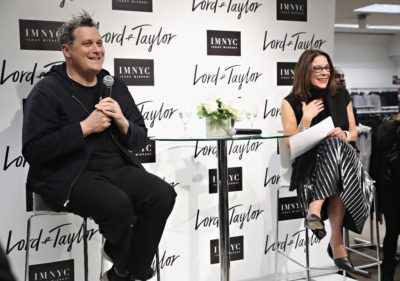 Designer Isaac Mizrahi and Vice President and Fashion Director at Lord & Taylor Stephanie Solomon (Photo by Cindy Ord/Getty Images for Lord & Taylor)
