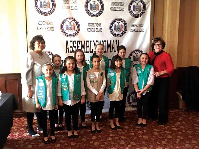 Girl Scouts Serve As Color Guard