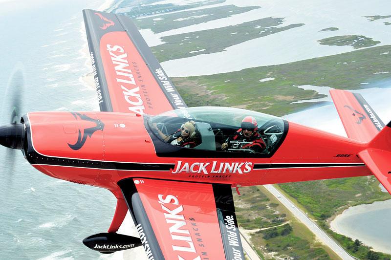 Nicole Lockwood stunt plane