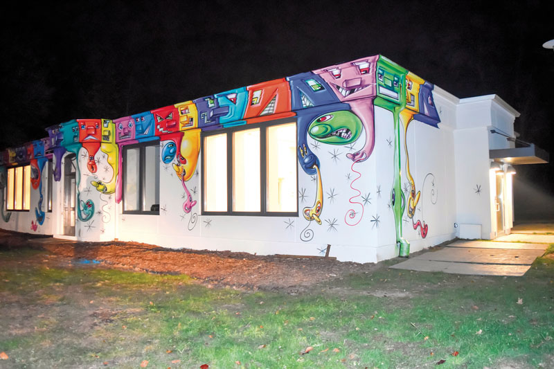 Kenny Scharf transformed the Manes Family & Education Center