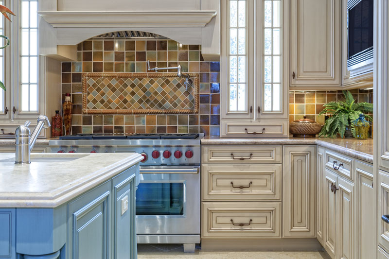 Beautiful Custom Kitchen with Island in an estate home